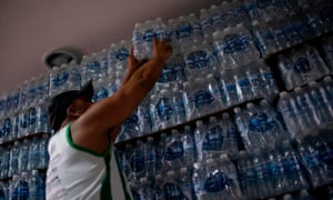 Residents in Rio de Janeiro have been buying bottled water after discovering murky, smelly water coming from their taps.