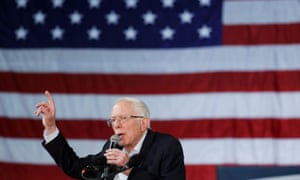 Sanders at rally in Phoenix on Thursday night. Sanders sees the Michigan primary next week as a chance to regain his stride after the knocks of Super Tuesday.