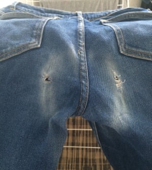 Michelle McGagh's jeans have seen better days