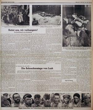 Nazi party newspaper Völkischer Beobachter, using photographs by AP photographer Franz Roth
