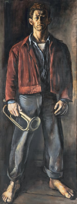 Kelly's Self-Portrait with Bugle, 1947.