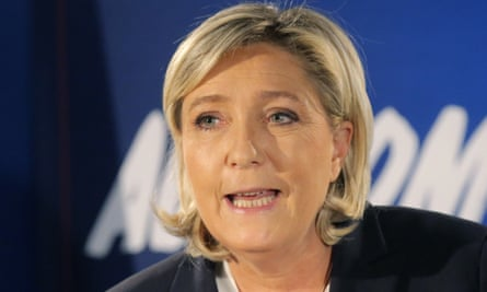 Marine Le Pen of the Front National party has been seen drinking coffee at Trump Tower.