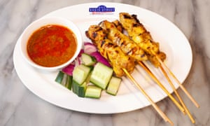 'There are singed bits and golden bits and roasted bits': chicken satay.