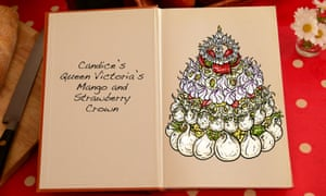 Candice's Queen Victoria Mango and Strawberry Crown, an illustration for the Great British Bake Off creation by Tom Hove.