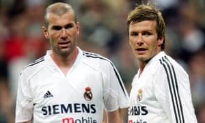 Zinedine Zidane and David Beckham