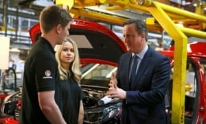 David Cameron visits Vauxhall's Ellesmere Port plant