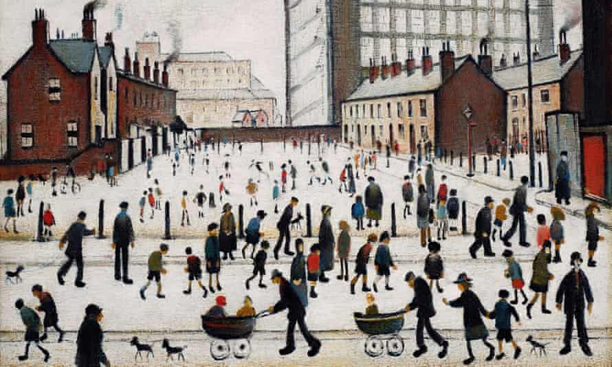 A detail from LS Lowry's The Mill, Pendlebury