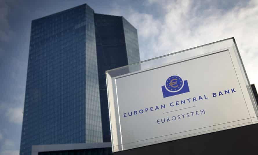 The headquarters of the European Central Bank (ECB) in Frankfurt, Germany.