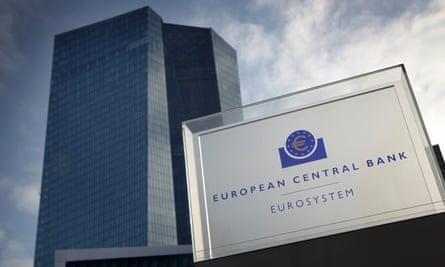 La sede del Banco Central Europeo (BCE) en Frankfurt, Alemania.