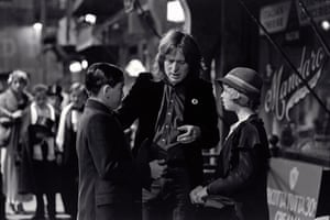 On the set of Bugsy Malone, 1976 with Scott Baio and Florrie Dugger.