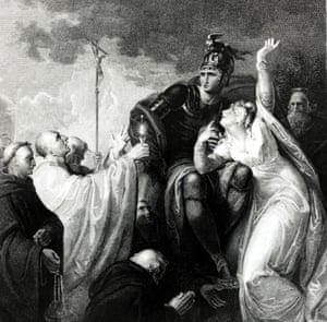 Under dark skies, St Augustine brings a message of Christian hope to 6th-century King Ethelbert of Kent