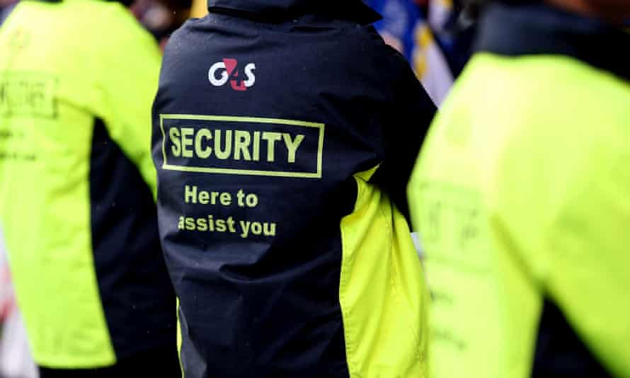 People in G4S jackets