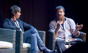 Brian Cox with the US astrophysicist Neil deGrasse Tyson.