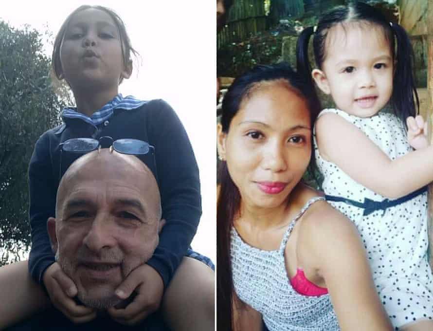 تونی سامارتینو و دخترش ماریا ترزا (چپ) و شریک زندگی اش ماریا پنا (راست.)