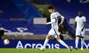 Kai Havertz made his Premier League debut in Chelsea's opening game at Brighton