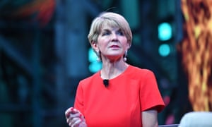Julie Bishop at EY's Future Realised Conference, Cockatoo Island in Sydney on Tuesday night.