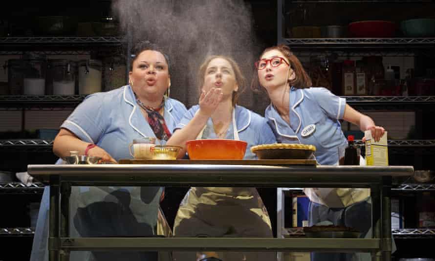 Not too filling: Keala Settle, left, Jessie Mueller and Kimiko Glenn, right, in Waitress.