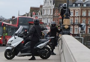 An organised gang carrying out robberies on scooters in London in 2018