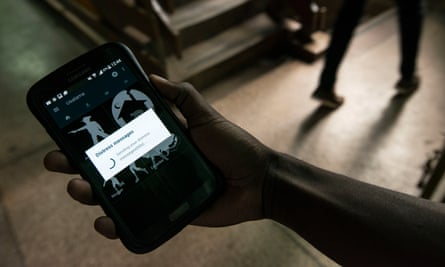 Edwin Inganji's smartphone app quickly connects users in Nairobi to emergency services.