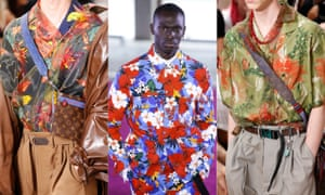 Hawaiian shirts Next summer's biggest trend, totally tropical prints were all over the runways from Louis Vuitton's surfers to Ami's matching co-ord look (left to right: Louis Vuitton, Ami, Louis Vuitton).