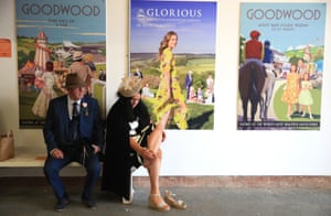 Day two of the festival brought better weather but no respite for the feet of racegoers