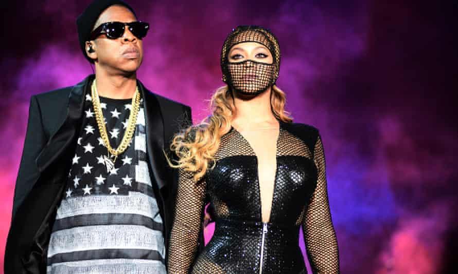 Black power couple … Jay Z and Beyoncé.
