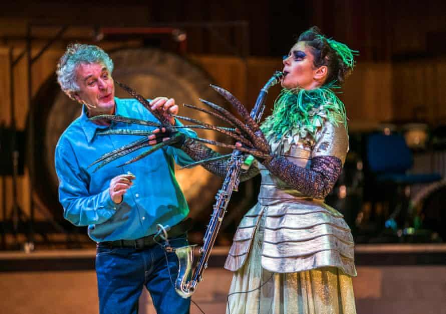 Hubert Mayer and Iris Zerdoud perform Stockhausen's epic opera Donnerstag aus Licht.