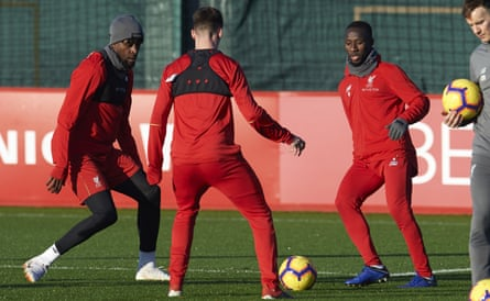 Naby Keïta, right, prepares for the Boxing Day match. Liverpool will hope there is more to come from him during the run-in.