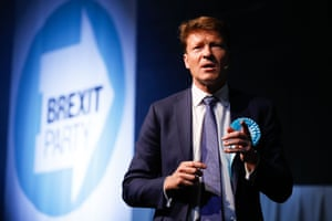 Richard Tice addresses a campaign rally in London earlier this month