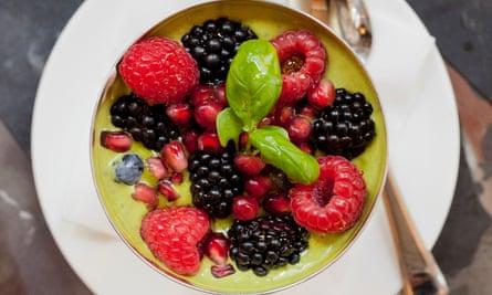 Millie's raspberry, chia seed and pistachio parfait