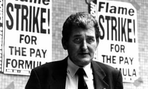 Ken Cameron outside the TUC headquarters in London after a conference on strike action, 1993.