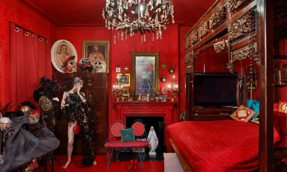 Red alert: the apartment of New York nightlife icon Susanne Bartsch, who arrived in Manhattan in 1987. She had an enormous impact on the city's emerging drag scene.