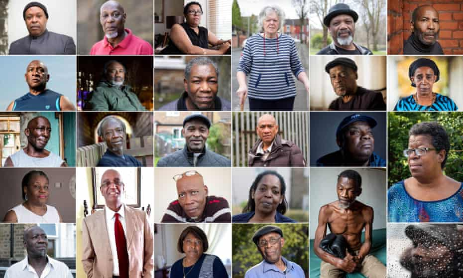 Just some of the Windrush generation affected by Home Office rulings.