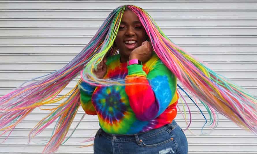 Amina Mucciolo with coloured hair