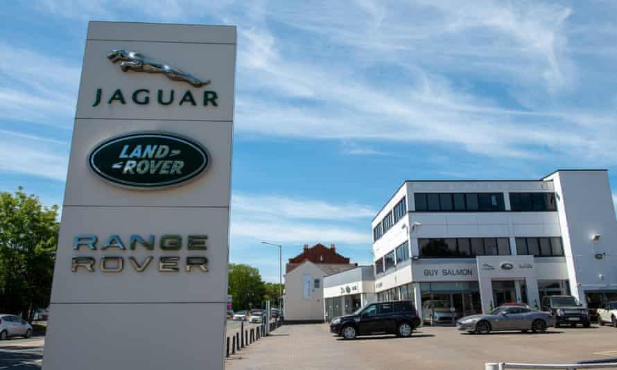 A Jaguar Land Rover dealership in Ascot, Berkshire