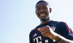 David Alaba is all smiles at Bayern training but his agent is unpopular with those inside the club.