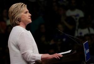 Presumptive Democratic party presidential nominee Hillary Clinton.