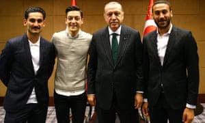 Gündoğan, Özil, Erdoğan, Tosun