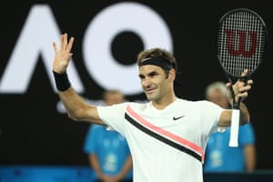 Federer of Switzerland goes through.