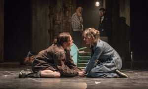 Catherine McCormack as Lila and Niamh Cusack as Lenù in the stage version of My Brilliant Friend.