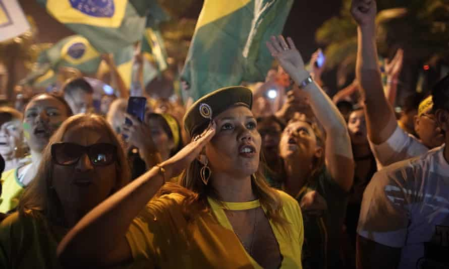 Supporters of Bolsonaro celebrate in Rio after he was elected president last year.