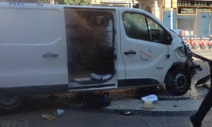 The van thought to have been used in the attack.
