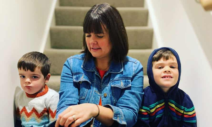 Joeli Brearley with her children, Theo and Jack.