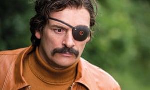 Julian Barratt as Mindhorn, a TV cop whose bionic eye allows him see through criminal lies.