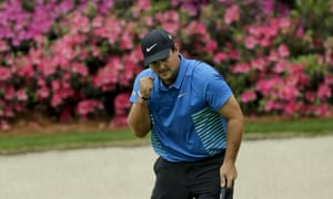 05121e41d7bd3f Patrick Reed reacts to his eagle on the 13th hole during the third round at  the