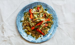 Meera Sodha's caramelised fennel, carrot and mung bean salad.