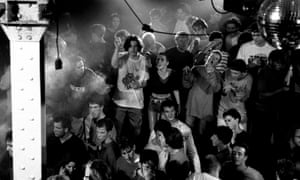 Clubbers at Manchester's Hacienda, 1989.