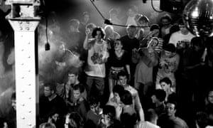 Clubbers in Manchester's Haçienda, 1989.