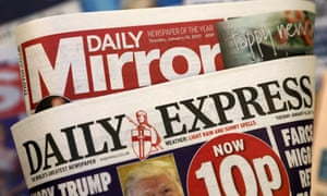 The Daily Mirror and Daily Express