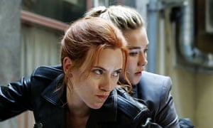 Scarlett Johansson and Florence Pugh in The Black Widow, to be released in May.
